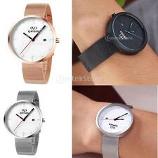 Fashion KINYUED Mens Quartz Wrist Watch Stainless Steel Business Calendar Watch