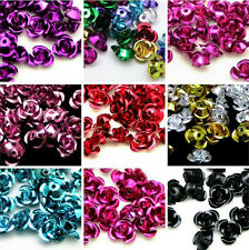 Wholesale Lots 100pcs Mixed Aluminum Flower Spacer Loose Beads Jewelry Making