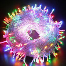 30M 300 LED Xmas Party Decor Outdoor Fairy String Light Lamp Multi-Color