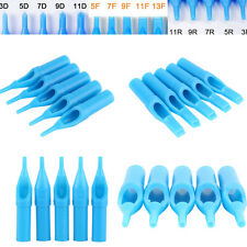 50Pcs Disposable Sterile Tattoo Tips Nozzle Needle Tube Tattoo Supplies RT DT FT
