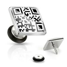 """Fake Plug Expander """"QR Code"""" 2 Texts NEW Eyecatcher - PIERCINGS from COOLBODY"""