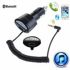 LOT Bluetooth A2DP 3.5mm AUX Stereo Audio Receiver Adapter Handsfree USB Charger