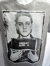 ELVIS PRESLEY MUG SHOT Latest! Heather T-Shirt- OFFICIAL 1956 Rock & Roll King!
