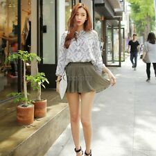 New Lady Women's Sweet Fashion Above Knee Short Culottes Elastic Pleated CO9901