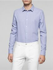calvin klein mens classic fit small check shirt