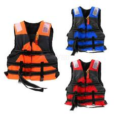 Adult Safety Life Jacket Swimming Boating Sailing Foam Buoyancy Vest + Whistle