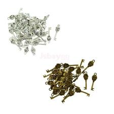 50Pcs 32x9mm Retro Punk Key Skull Design Charms Pendant for DIY Jewelry Necklace