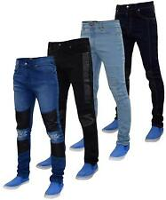 Mens G72 Zip Fly Stretch Skinny Slim Fit Biker Denim Jeans Cotton Ripped Pants