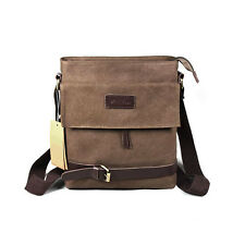 Men Fashion Briefcase Canvas Shoulder Messenger Cross body Casual Business Bag