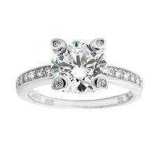 925 Sterling Silver Stunning 2.21 Carat CZ Engagement Ring Size 6-9