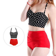 Hot Pin Up Bra + Panty 1 Set Bikini New Sexy Polka Dot Women