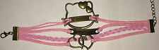 Fashion Leather Cute Infinity Charm Bracelet Jewelry Silver US Seller SHIPS FAST