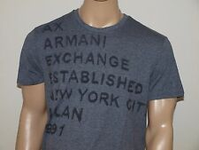 Armani Exchange Authentic Logo T Shirt Charcoal Heather NWT