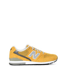NEW New Balance 996 Running Sneakers Men Yellow Suede,Technical fabric Made In C
