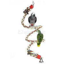 Colorful Natural Cotton Parrot Bungee Rope Toy Pet Bird Climbing Standing Perch