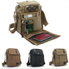Men Canvas Vintage Messenger Shoulder Bag Military School Satchel Multipurpose