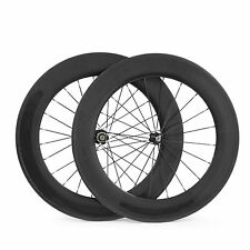 88mm Tubular Carbon Bike Wheels Rim Brake Carbon Road Wheelset 3K Matte 700C