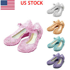 Fashion Cute Grils Crystal Princess Shoes Girls Kids Cosplay Jelly Party Fancy