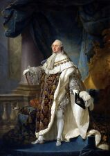 Louis XVI 24X36inch, Handcraft Portrait Oil Painting on Canvas /no Frame