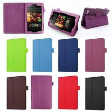 PU Leather Shell Fold Case Cover For 2016 Amazon Kindle Fire HD 7 Inch Tablet TY