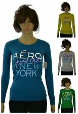 Aeropostale Women's Juniors Long Sleeve New York Graphic Tee Aero New w/ Tags