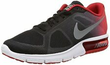 Nike Men's Air Max Sequent Athletic Running Shoes Black/Red/Grey/White