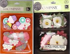K&Company Dimensional Stickers LAYERED ACCENTS - Cupcake Merryweather Flower-NIP