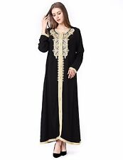 Muslim Maxi long dress vintage kaftan women Islamic clothing abaya jalabiyas