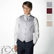 Boys Waistcoat Suit, Striped Waistcoat, Page Boy Suits, Navy Trousers, 3m-14yrs