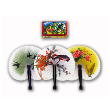 Oriental Fold Out Travelling Paper Fans Floral Traditional Cherry Blossom Birds