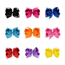 Grosgrain Hair Clip Alligator Clips BoutIque Baby 1Pcs Girl Big Bows Bow Ribbon
