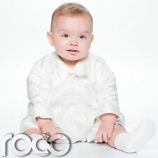 Baby Boys Cream Christening Outfit, Boys Romper Suit, Christening Suit