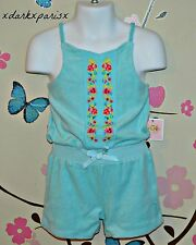 NWT NEW JUICY COUTURE Toddler Micro Terry Romper Embroidered SZ6-12,18-24M $68
