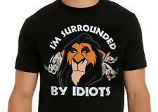 DISNEY THE LION KING SCAR T-SHIRT (XS-L) SURROUNDED BY IDIOTS