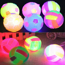 LED Volleyball Flashing Light Up Color Massage Bouncing Hedgehog Ball Kids Gift