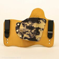 FoxX Leather & Kydex IWB Holster (Pick Your Gun) Natural & Sand Storm Right draw
