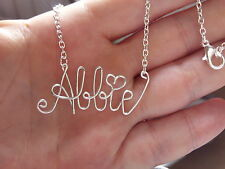 HandMade Personalised Gift Horoscope Word or Name Necklace Name bracelet Charm