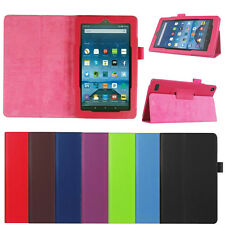 Folding Stand Leather Case Cover For Amazon Kindle Fire 7 inch 2017 Tablet Skin
