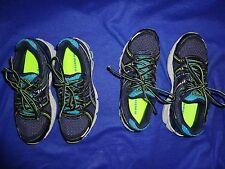 2 pairs ASICS Gel Kayano 19 YOUTH 5 5Y INK running shoes BOYS lot PLAY condition