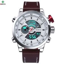 Male Sport Watch Multifunction LED Digital Dual Time Hours Wrist Analog Round 20