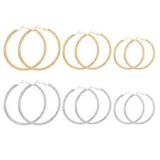 Crystal Large Big Silver/Gold Hoop Earrings Big Large Circle Chic Hoops Earrings