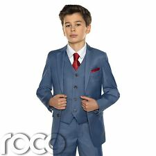 Boys Chambray Suit, Holy Communion Suit, Chambray Blue Holy Communion Suit