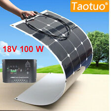 30-500W Semi Flexible Solar Panel Battery System Ultra Thin For Camping RV Boat