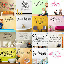 Fashion Removable Black Mural Vinyl Quote Sticker Wall Decal Paper Home Decal