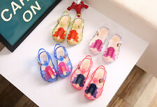 Kids Girls Popsicles Stick Shaped Sandals Hollow Princess Beach Flat Jelly Shoes