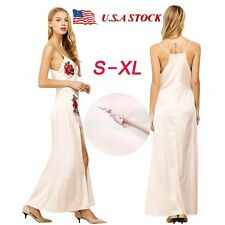 Women Summer Beach Sundress Floral Long Split Dress Maxi Evening Party Cocktail