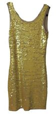 BCBG MAX AZRIA GOLD NINA SLEEVELESS SEQUINED DRESS SIZE S $298