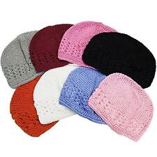 Crochet Beanie Hats - Kids Kufi Hat - 6 Pack Children Beanies by CoverYourHair