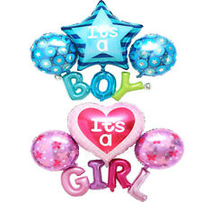 Its A Girl Boy Baby Shower Christening Star Heart Foil Balloon Party Decorations
