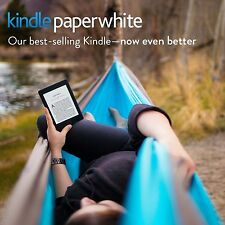 "Kindle Paperwhite E-reader - Black, 6"" High-Resolution Display (300 ppi) with Bu"